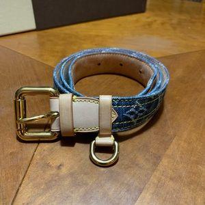e155b606842c Louis Vuitton. Louis Vuitton Denim Belt - Size 90 36